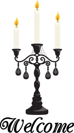 candelabra: Decorate for Halloween with some spooky candles. Illustration
