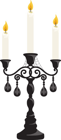 taper: Decorate for Halloween with some spooky candles. Illustration