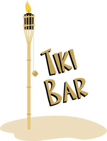 tiki: Use this tiki torch for a tropical project.