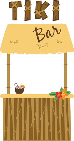 Use this tiki bar for a tropical project.