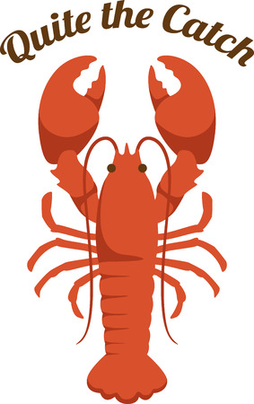 Use this for a seafood meal. Иллюстрация