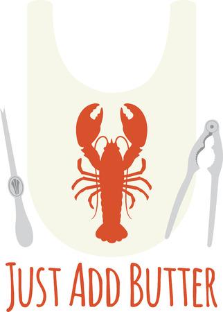 Use this bib for a seafood meal. Illusztráció