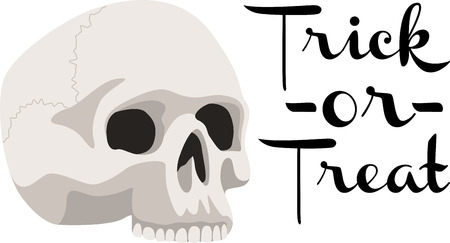 cranium: Decorate for Halloween with a spooky skull. Illustration