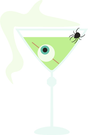 Decorate for Halloween with a spooky cocktail. Иллюстрация