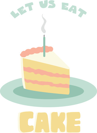 Use this slice of cake for a one year olds birthday shirt.