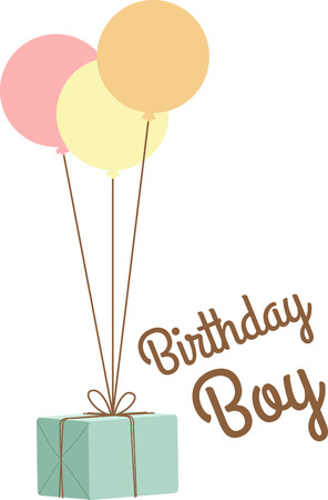 Use this gift for a birthday shirt. Ilustrace