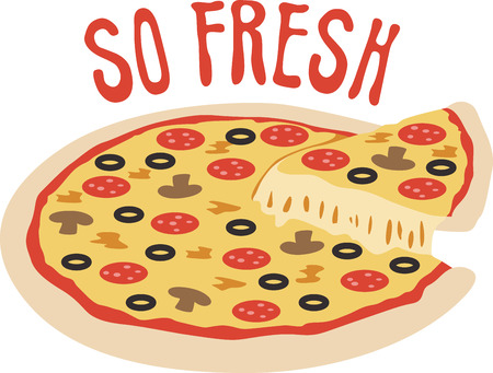 lets party: Use this pizza for a fun shirt.