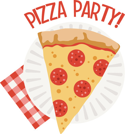 Use this pizza for a fun New York shirt.
