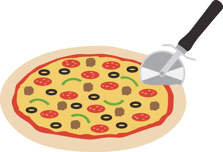 Use this pizza for a fun shirt.