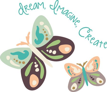 Use this butterfly design for a child's shirt. Stock Vector - 43868842