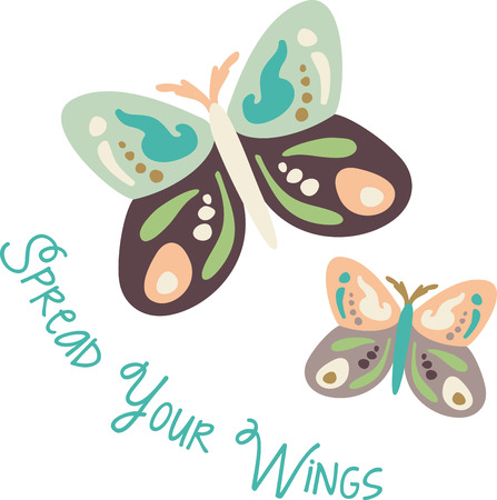 Use this butterfly design for a child's shirt. Stock Vector - 43868841