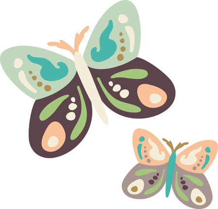 Use this butterfly design for a child's shirt. Stock Vector - 43868843