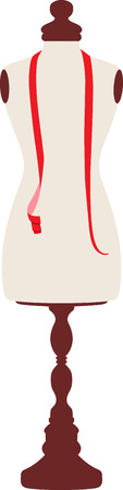 notion: Seamstress will like a nice mannequin for sewing. Illustration