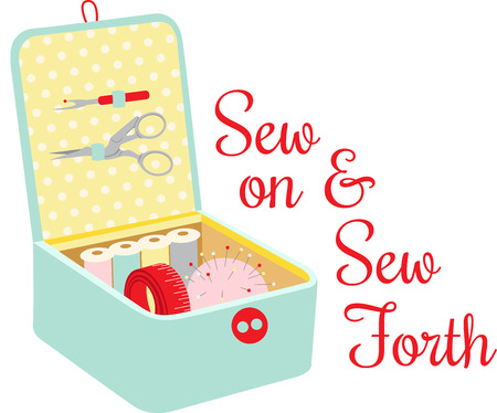 Seamstress will love a nice box of notions for their sewing