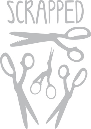 clipper: Quilters will love some nice scissors for their projects. Illustration