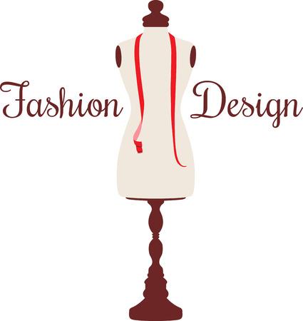 女性の裁縫師ようミシンの素敵なマネキンになります。  イラスト・ベクター素材
