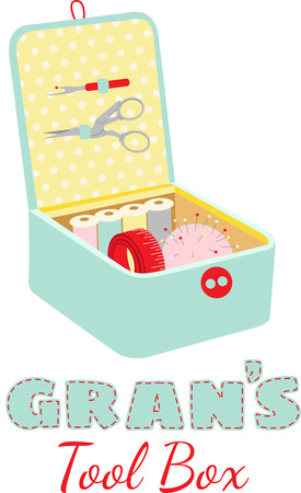 notions: Seamstress will love a nice box of notions for their sewing.