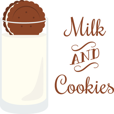 Use this milk and cookie for a yummy treat.