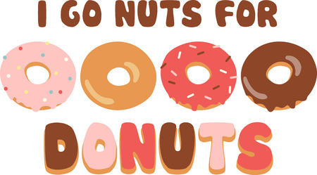 for: Use this donut design for a fun shirt.