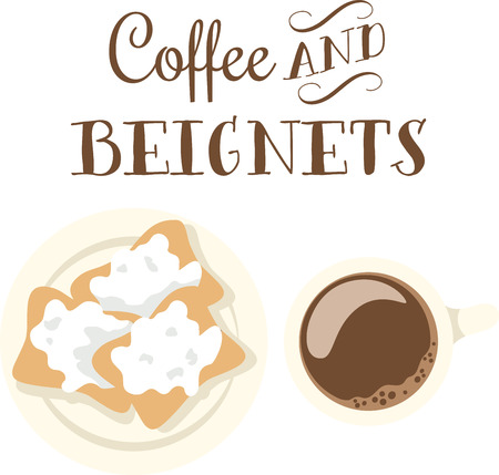 new orleans: Use this beignet design for your New Orleans cousins. Illustration