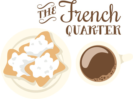 Use this beignet design for your New Orleans cousins. Illustration