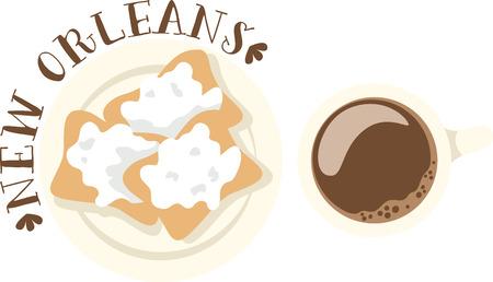 Gebruik dit beignet ontwerp voor uw New Orleans neven.