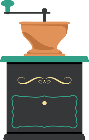 Use this coffee grinder for a fun shirt logo. Banco de Imagens - 43868881