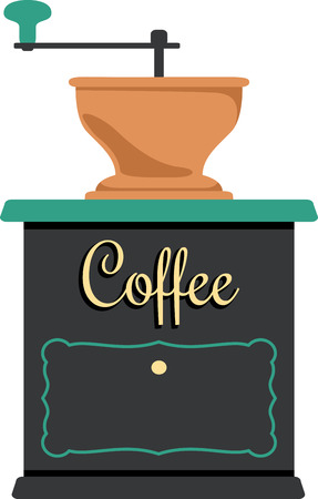 Use this coffee grinder for a fun shirt logo.