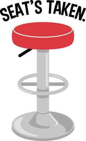 barstool: Use this barstool for a bar project.
