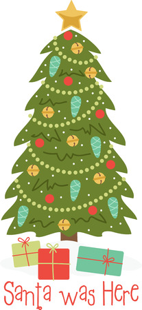 クリスマス ツリーは、偉大な休日の装飾です。  イラスト・ベクター素材