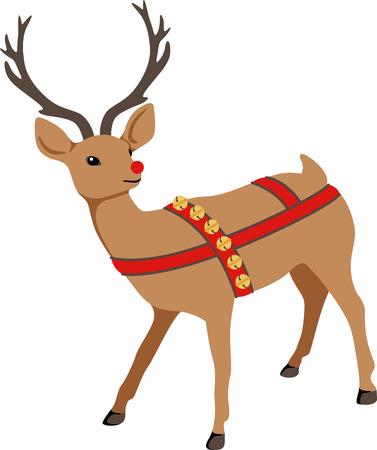 Reindeer are a great holiday decoration. Zdjęcie Seryjne - 43868907