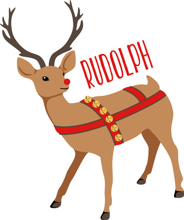 red nosed: Reindeer are a great holiday decoration.