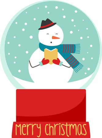 wonderful: A snow globe snowman is a wonderful winter decoration.
