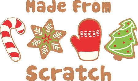 Holiday cookies are a great Christmas decoration. Illusztráció