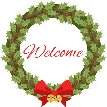 ilex: A holly wreath is a great Christmas decoration.