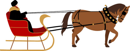 horse sleigh: Everyone will enjoy a sleigh ride for the holidays.