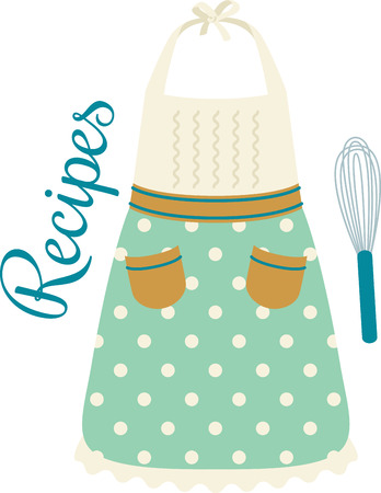 Cooks will enjoy a cooking design on a towel or apron. 向量圖像