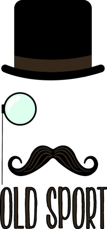 Express your class with this dapper monocle man.