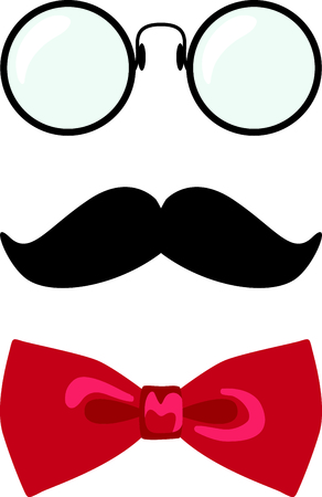 scholarly: This gentleman face is a scholarly touch for your project.