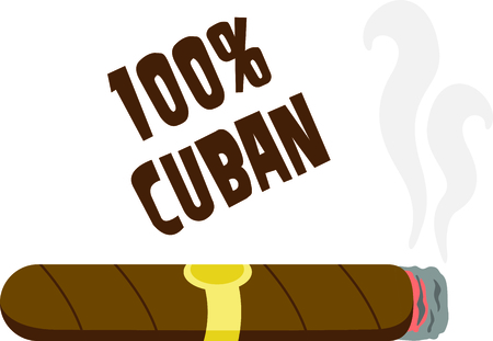 Use this cigar design for your smoking project. Иллюстрация