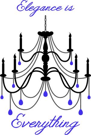 eleg�ncia: Utilize este candelabro para acrescentar eleg�ncia ao seu projeto. Ilustra��o