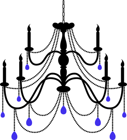 fixture: Use this chandelier to add elegance to your project.