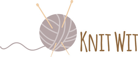 skein: A knitters ball of yarn illustrations
