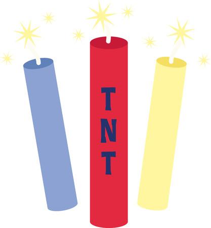Sparkling firecrackers