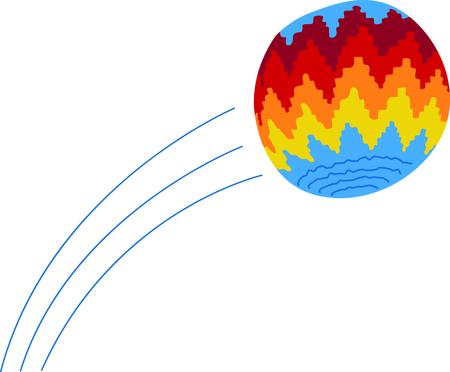 weave ball: hack sack illustrations Illustration