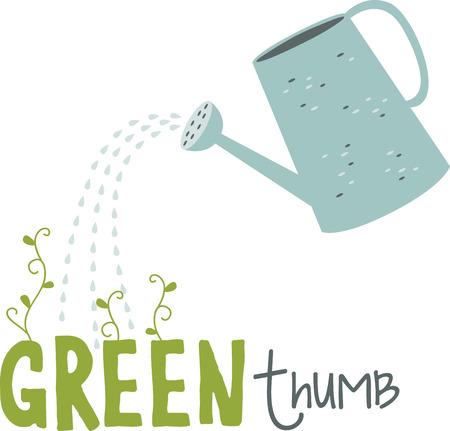 園芸愛好家のための水まき缶を注ぐ。