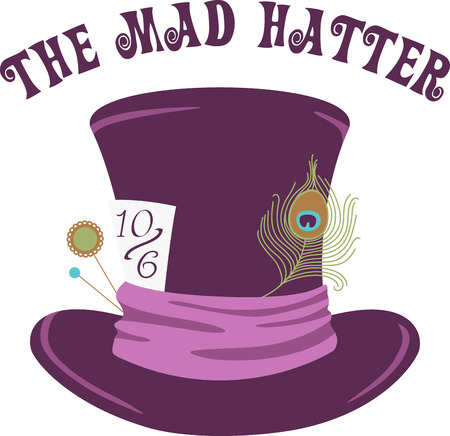 Purple velvet tophat ready for the hatter.