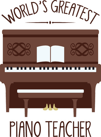 A piano is a great instrument for any kind of music you like. Иллюстрация