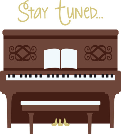 upright: A piano is a great instrument for any kind of music you like. Illustration