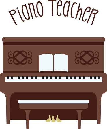 A piano is a great instrument for any kind of music you like. 向量圖像
